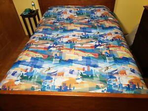 Vintage Motel 6 Americana Bedspread Blanket Comforter Queen USA HTF