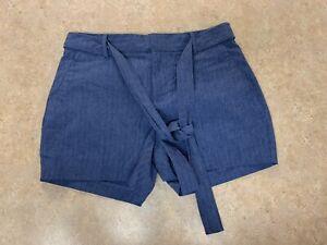 banana republic womens blue dress shorts size 0