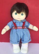 Vintage MY CHILD Doll Boy Dark Brown Hair Aqua Eyes Clothes