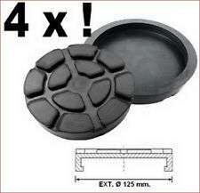 SET OF 4 PADS Ravaglioli 2 Post Car Lift Ramp Rubber Pads - 125 mm REAL RUBBER