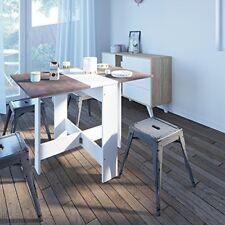 Scandinavian Dining Table Modern Compact Folding Drop-leaf Kitchen Furniture