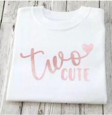 Second Birthday Girls T-shirt 2nd Birthday Top Two Cute