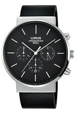 Reloj hombre Lorus Classic Man Rt373gx8 de cuero negro