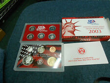 2003 SILVER PROOF SET WITH STATE QUARTERS 10 COIN