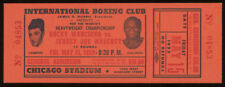 Original Unused 1953 Rocky Marciano vs. Jersey Joe Walcott Boxing Match Ticket