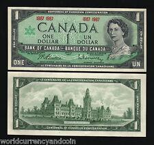 CANADA 1 DOLLAR P84 1967 HORSE QUEEN COMMEMORATIVE UNC CURRENCY MONEY BANK NOTE