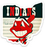 Cleveland Indians Vintage Chief Wahoo Magnet in the State of Ohio MAGNET