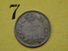 1913 Five 5c cent silver coin Canada