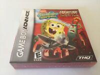 SpongeBob SquarePants:Creature from the Krusty Krab Nintendo Game Boy Advance