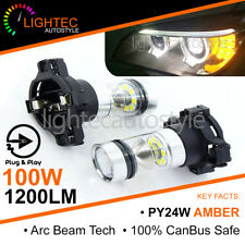 2X CANBUS PY24W 5200s 100W CREE AMBER LED TURN SIGNAL INDICATOR BULBS ERROR FREE