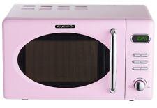 Wolkenstein Mikrowelle pink RETRO 700 Watt 20l nostalgie Chrom rosa rose Display