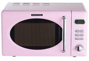 Wolkenstein Microwave Pink Retro 700 Watt 676.3oz Nostalgia Chrome Rose Display