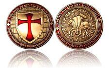 Templar Geocoin Antik Gold - NEU - Geocaching - unaktiviert - trackbar -medaille