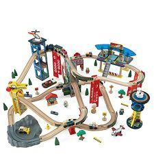 KidKraft Over 80 Total Pieces, Super Highway Train Set For Kids 17809 New