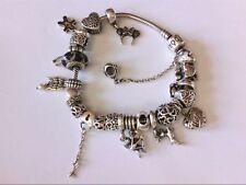 "Nice Pandora 8"" Bracelet w/ 23 Silver 925 Charms- NICE COLLECTION!! WEAR READY!!"