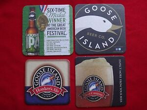 Set Of 4 New GOOSE ISLAND BEER Company Chicago Illinois COASTERS