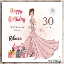 Personalised Birthday Card for Daughter Granddaughter Friend 18th 21st 30th 40th