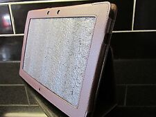 Brown PU Leather Carry Case/Cover/Stand for Asus Eee Pad TF201 Transformer Prime