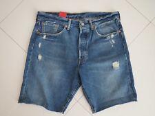Levi's 501 CT Men's Blue Wash Distress Cut Out Denim Shorts Size: 34