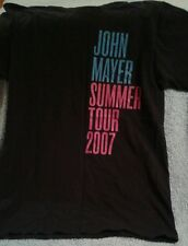 John Mayer 2007 Summer Tour Black T-Shirt Size Medium