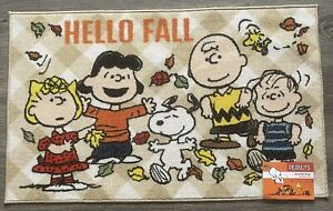 """Peanuts Gang Happy Fall Harvest Accent Rug 20""""x32""""Holidays Thanksgiving New"""