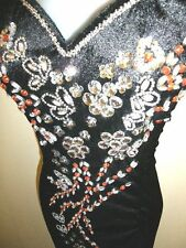 SALE! Size 14 (XL)(D12-BOR) New Dinner Prom Long Dress Party Gown with Sequins