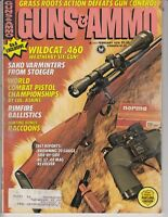 Guns & Ammo Magazine April 1978 - HUNTING RACCOONS - WILDCAT .460  Gun /fh
