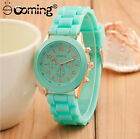 Silicone Geneva Watch Relogio Feminino Fashion Women Casual Luxury Wristwatches