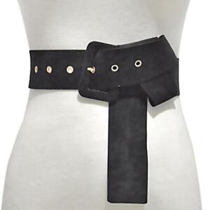 Womens Suede Fabric Wide WaistBand Elastic Stretch Belt Lady Buckle Wide Belt