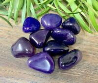 1/2 lb Purple Agate Tumbled Stones Crystal Therapy Gemstone Specimen Reiki Wicca