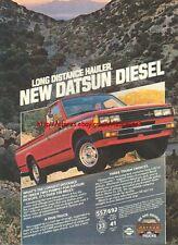 Datsun Diesel Truck 1981 Magazine Advert #1057