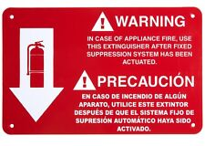 """CLASS """"K' KITCHEN FIRE EXTINGUISHER  SIGN 7"""" X 11"""" (THICK PLASTIC) NEW"""