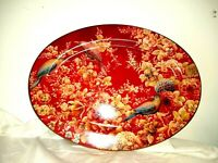 "Pottery Barn Sabyasachi Floral Birds 16"" Oval Platter New"