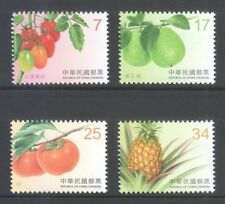 REP. OF CHINA TAIWAN 2016 FRUITS S2 HIGHER VALUE COMP. SET OF 4 STAMPS MINT MNH
