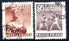 Poland Stamps Scott #575; 77  Boxers 1953