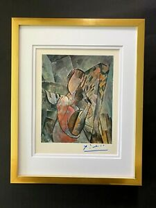 PABLO PICASSO BEAUTIFUL 1948 SIGNED SCARCE PRINT MATTED 11 X 14 + LIST  $995