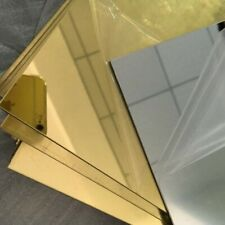 """1 Sheets 1/8"""" Gold Mirror Acrylic Plexiglass 12"""" x 24� With Adhesive Back"""