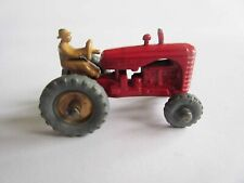 VINTAGE Matchbox No 4 Massey Harris Tractor Gold Hub without mudguards - VG