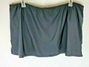 Catalina Womens Size 3X (22w-24w) Black Swim Skorts Skirt Built in Underwear