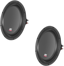 """TWO MTX 3510-04S 10"""" SHALLOW SLIM SUBOOWFERS 4 OHM 300W RMS FREE SHIPPPING NEW"""