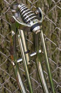 Bicycle Springer Fork Chrome 26 Rat Rod Cruiser Chopper Vintage Schwinn Balloon