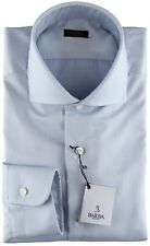 NWT BARBA NAPOLI DRESS SHIRT gold label sky blue twill handmade 42 16 1/2