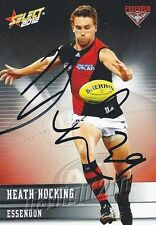 ✺Signed✺ 2012 ESSENDON BOMBERS AFL Card HEATH HOCKING