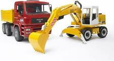 BRUDER 1:16 Truck Man TGA Dump With Liebherr Excavator Construction 02751