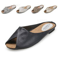 NEW Women Summer Fashion Causal Shoes Slippers Faux Leather Sandals Beach Mules