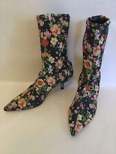 Zara Woman Floral Ankle Boots Size 36 Boho GORGEOUS