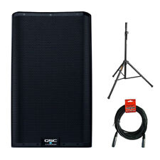 "QSC K12.2 Active 12"" Powered 2000 Watt Loudspeaker w/ Stand & Cable"