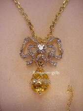 Russian Imperial Louis Xv Diamond Bow & Egg Pendant Necklace