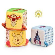 Disney Winnie the Pooh Eeyore Tigger Soft Blocks Baby Gift Set Activity Block