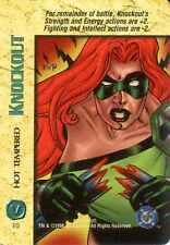 OverPower: Knockout Hot Tempered [Ungraded] - CCG Marvel DC Image